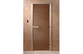 Дверь банная DW  1700х700 хвоя БРОНЗА МАТОВОЕ Теплая ночь