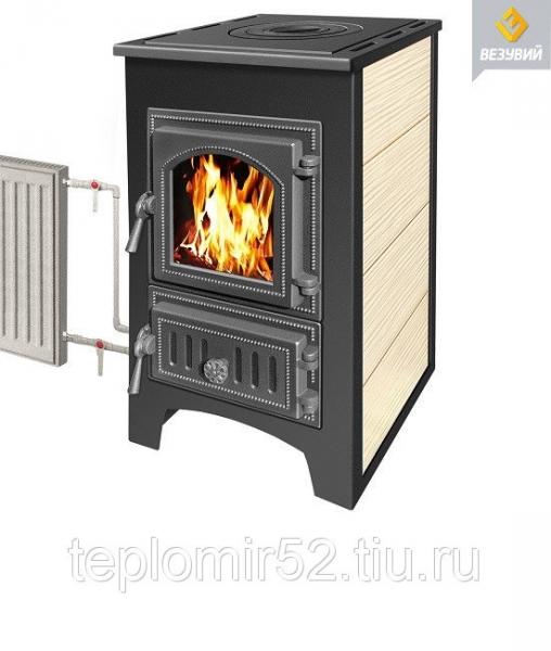 Печь-Камин ВЕЗУВИЙ ПК-01 (270) бежевый 9 кВт(150 м3)