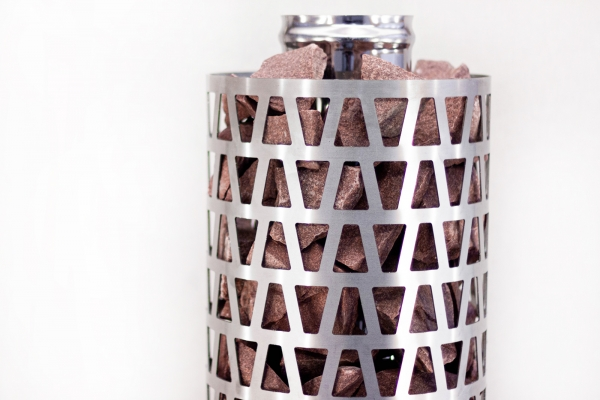 Сетка-каменка №4 (Пирамида) —  d-350 — h-750 мм —  нерж 1,5 мм AISI 430