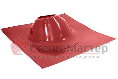 Уплотнитель прохода кровли мастер-флеш, силикон, угловой №2R цвет красный— диаметры от 200 до 280мм