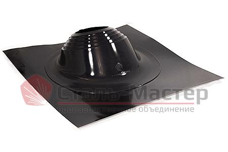 Уплотнитель прохода кровли мастер-флеш, силикон, угловой №2R цвет чёрный — диаметры от 200 до 280мм