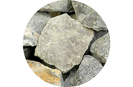 Камни для сауны Габбро-диабаз колотый (20 кг) коробка ЭК