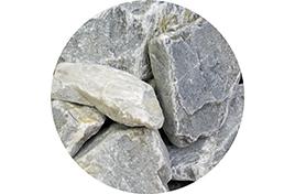 Камни для сауны Кварцит серый колотый 20 кг