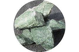 Камни для сауны Жадеит колотый 20 кг (ведро)