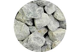 Камни для сауны Габро-диаббаз колотый мытый (20 кг) коробка
